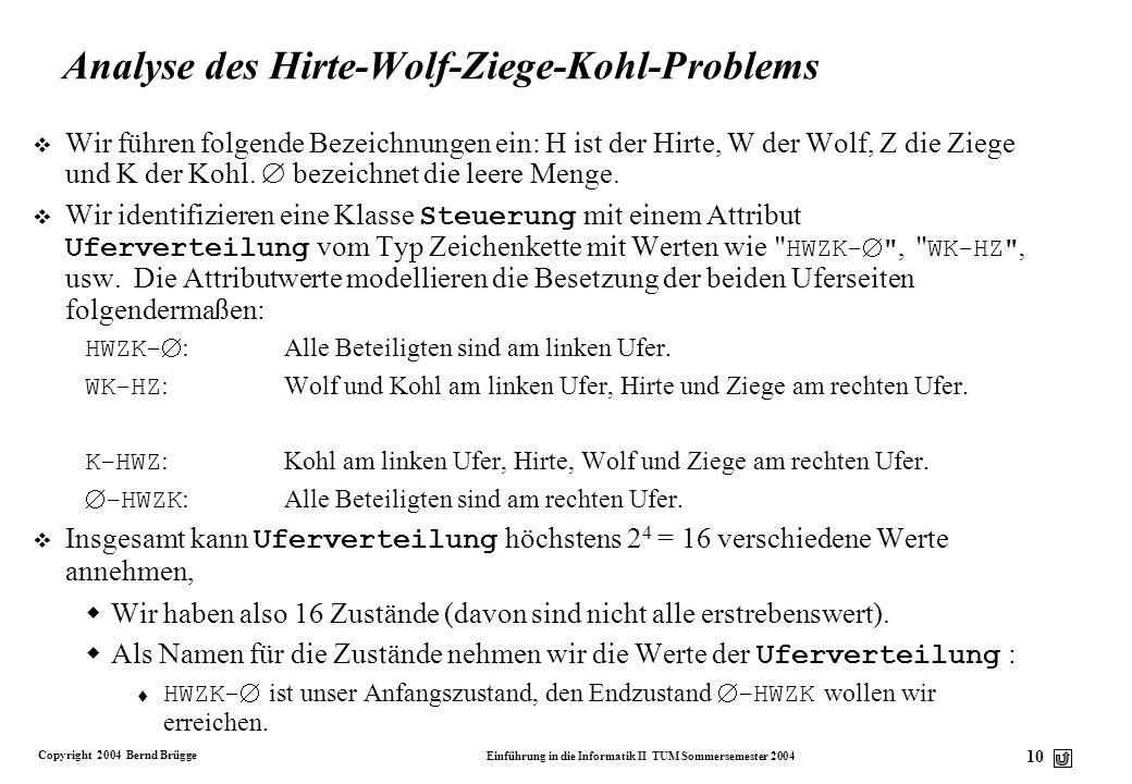 Analyse des Hirte-Wolf-Ziege-Kohl-Problems