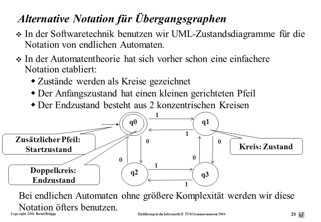 Alternative Notation für Übergangsgraphen