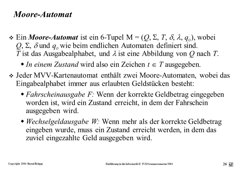 Moore-Automat