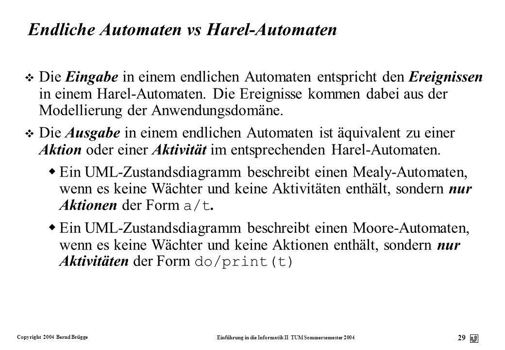 Endliche Automaten vs Harel-Automaten