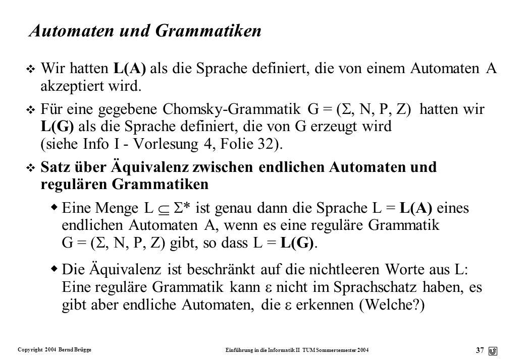 Automaten und Grammatiken
