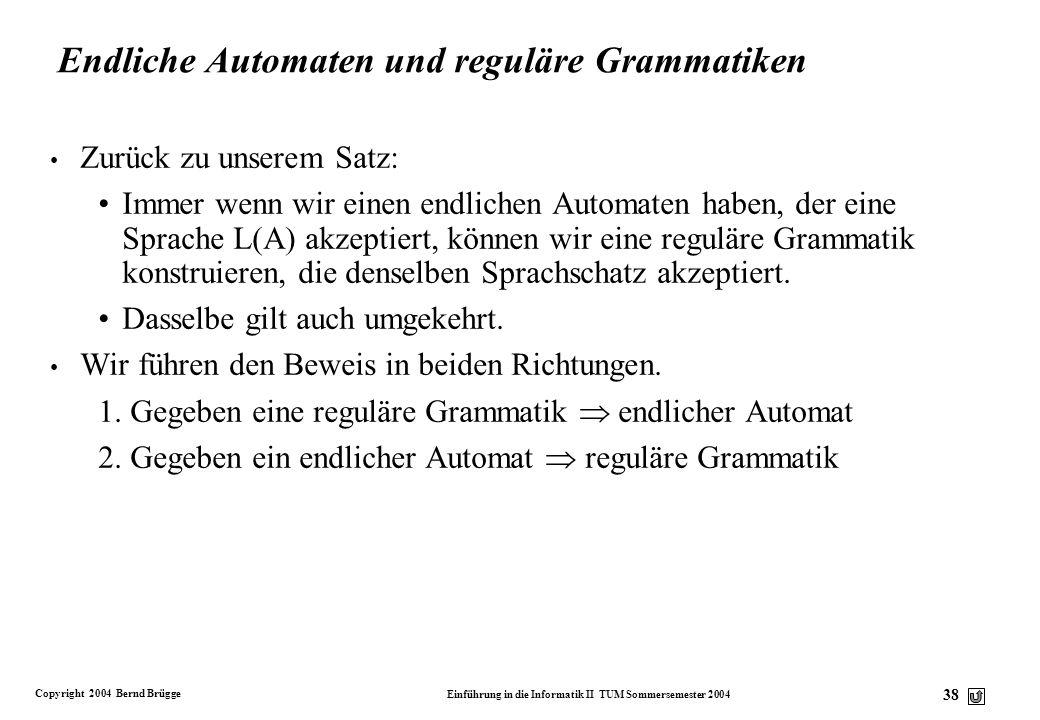 Endliche Automaten und reguläre Grammatiken