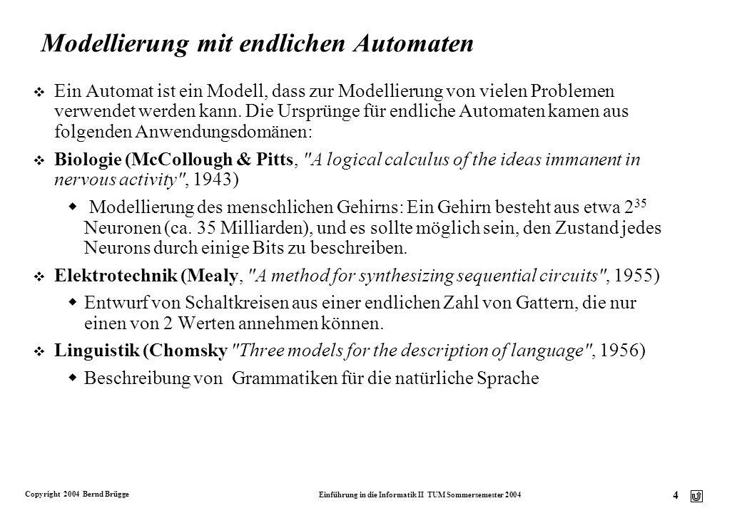 Modellierung mit endlichen Automaten