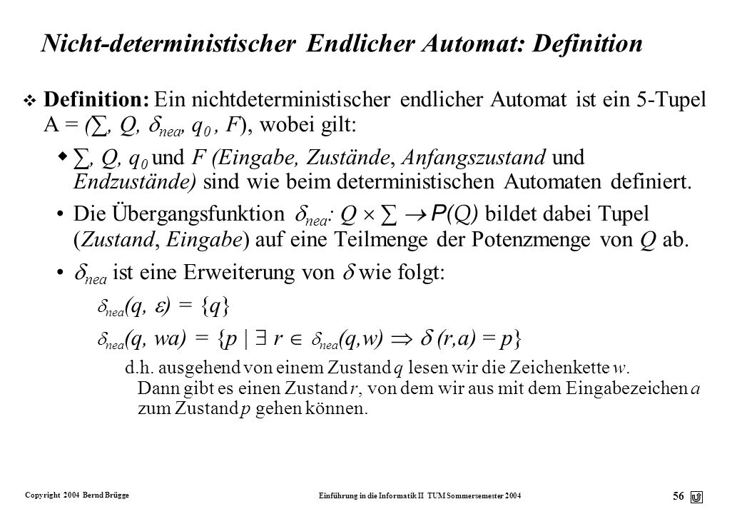 Nicht-deterministischer Endlicher Automat: Definition