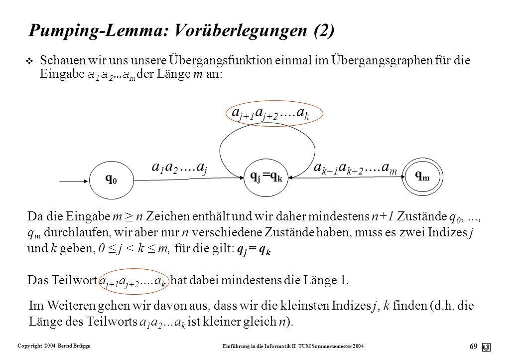 Pumping-Lemma: Vorüberlegungen (2)