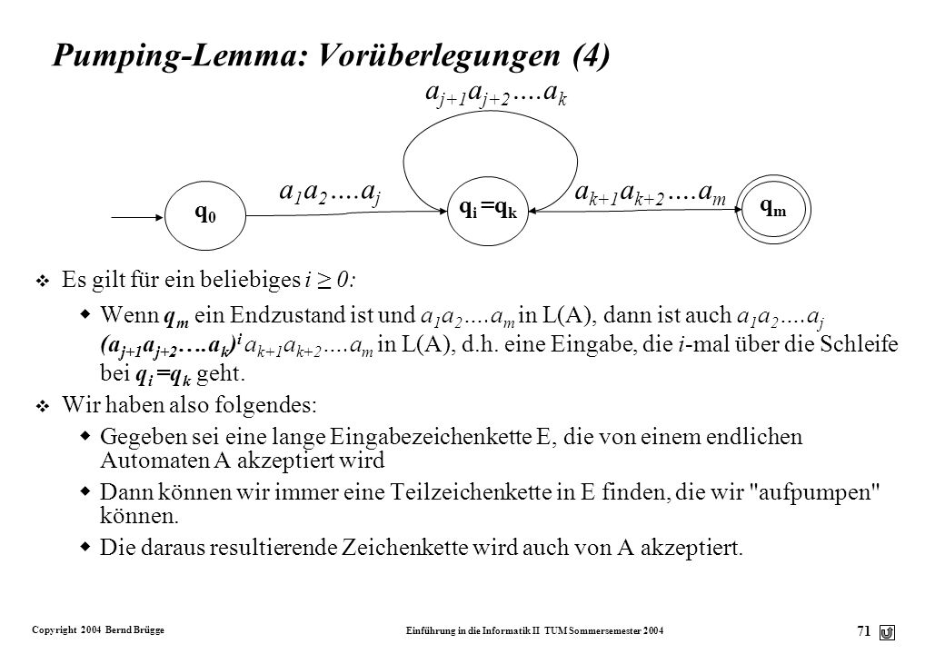 Pumping-Lemma: Vorüberlegungen (4)