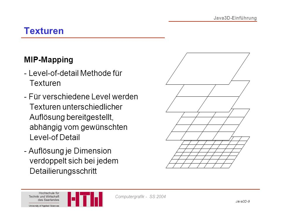 Texturen MIP-Mapping - Level-of-detail Methode für Texturen