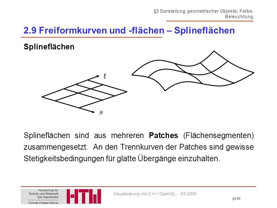 2.9 Freiformkurven und -flächen – Splineflächen