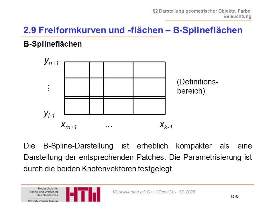 2.9 Freiformkurven und -flächen – B-Splineflächen
