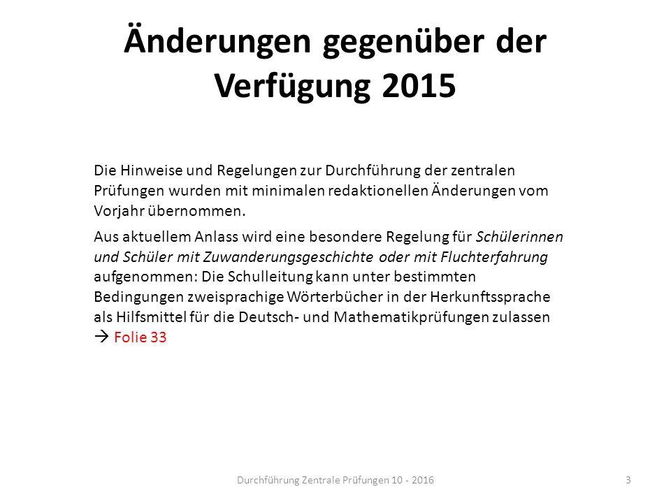 Änderungen gegenüber der Verfügung 2015