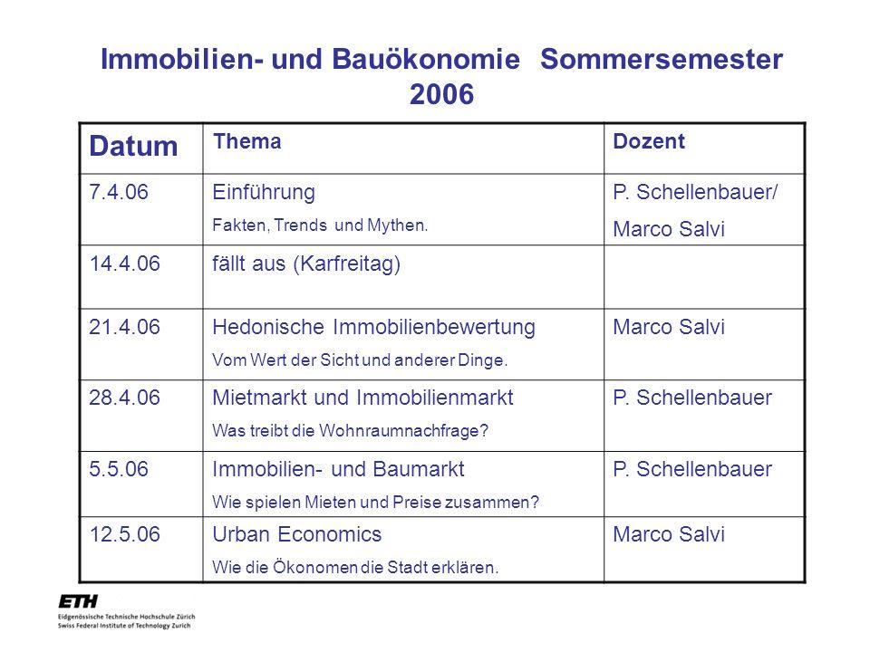 Immobilien- und Bauökonomie Sommersemester 2006