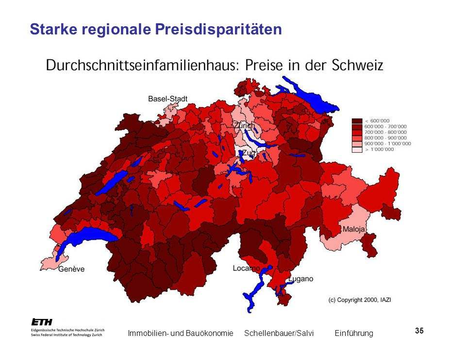 Starke regionale Preisdisparitäten