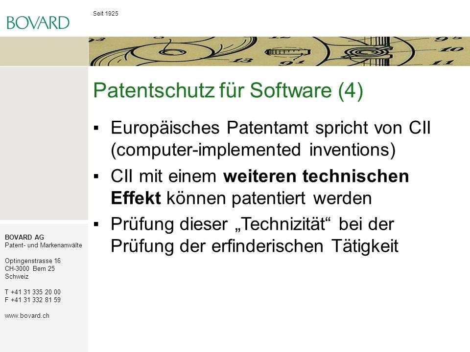 Patentschutz für Software (4)