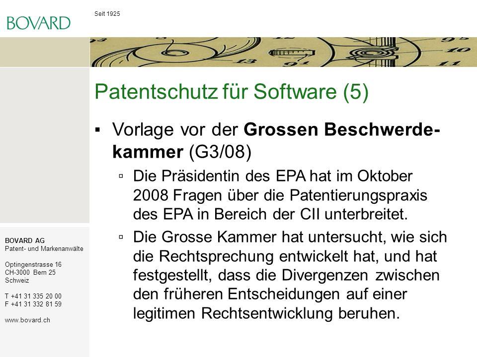 Patentschutz für Software (5)