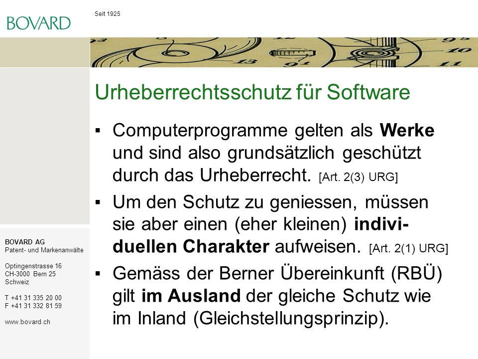 Urheberrechtsschutz für Software