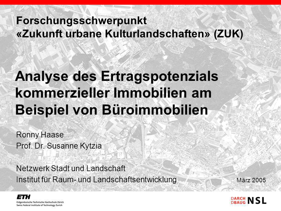 Forschungsschwerpunkt «Zukunft urbane Kulturlandschaften» (ZUK)