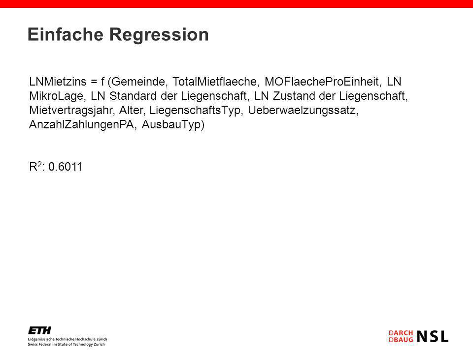 Einfache Regression