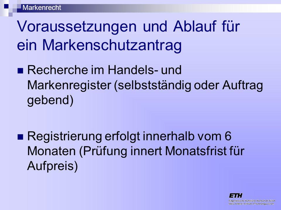 Voraussetzungen und Ablauf für ein Markenschutzantrag