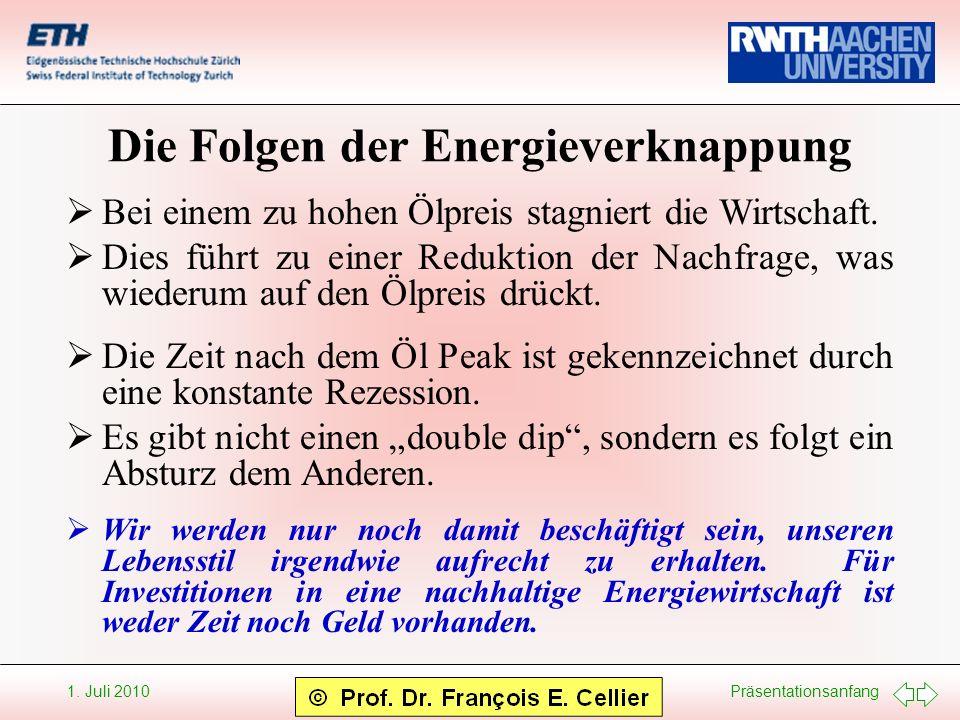Die Folgen der Energieverknappung
