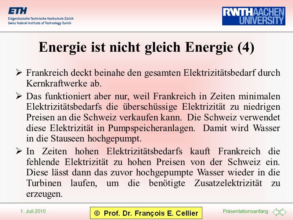 Energie ist nicht gleich Energie (4)