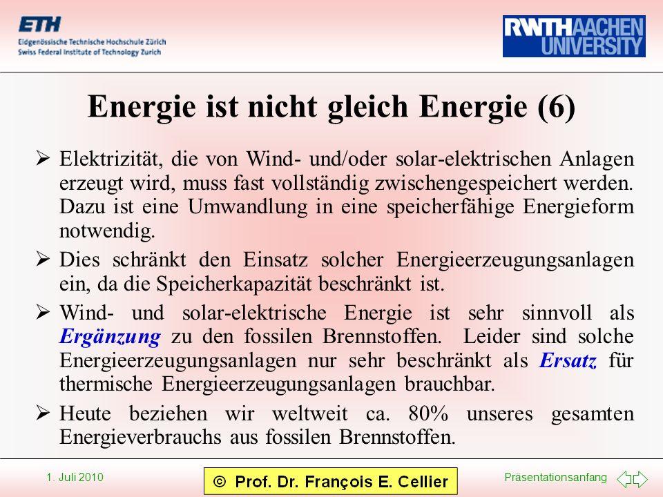 Energie ist nicht gleich Energie (6)