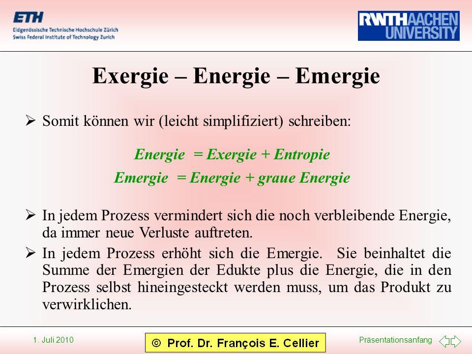 Exergie – Energie – Emergie