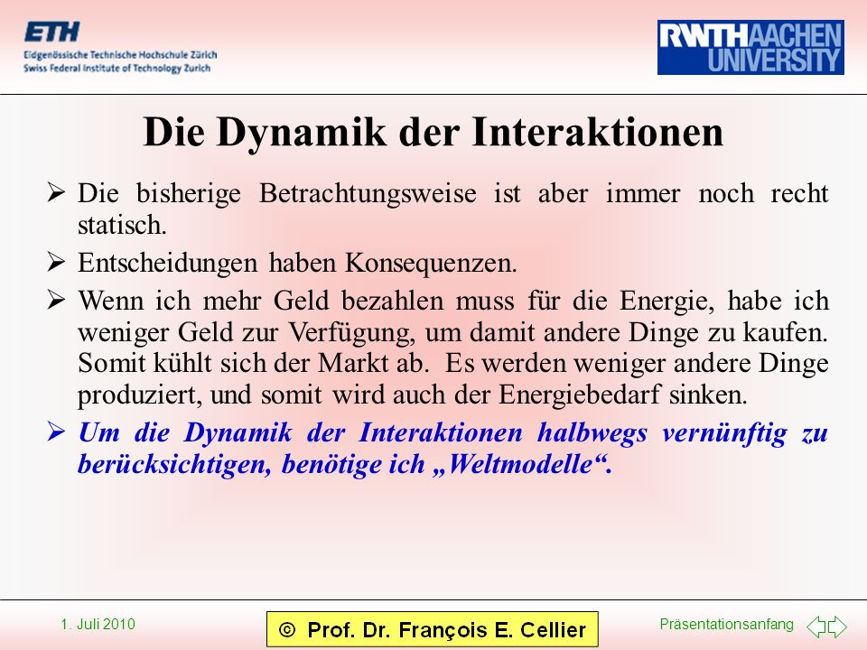 Die Dynamik der Interaktionen
