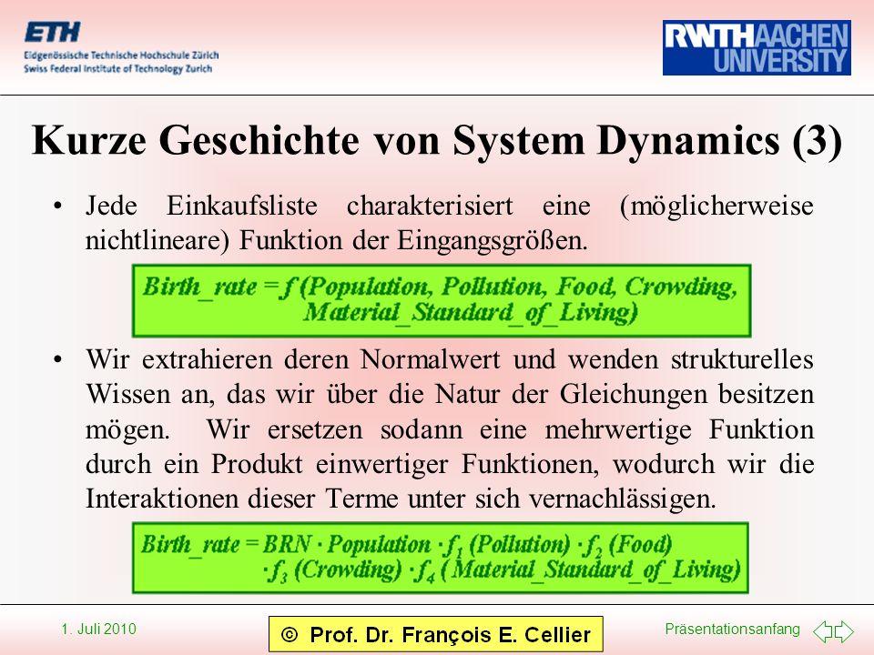 Kurze Geschichte von System Dynamics (3)
