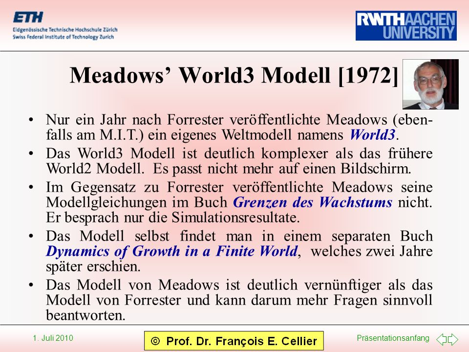 Meadows' World3 Modell [1972]