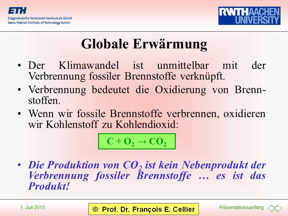 Globale Erwärmung Der Klimawandel ist unmittelbar mit der Verbrennung fossiler Brennstoffe verknüpft.