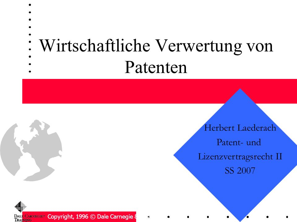 Wirtschaftliche Verwertung von Patenten