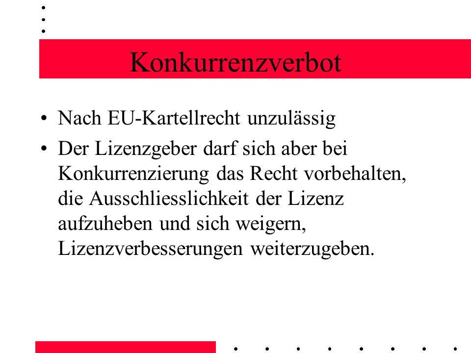 Konkurrenzverbot Nach EU-Kartellrecht unzulässig