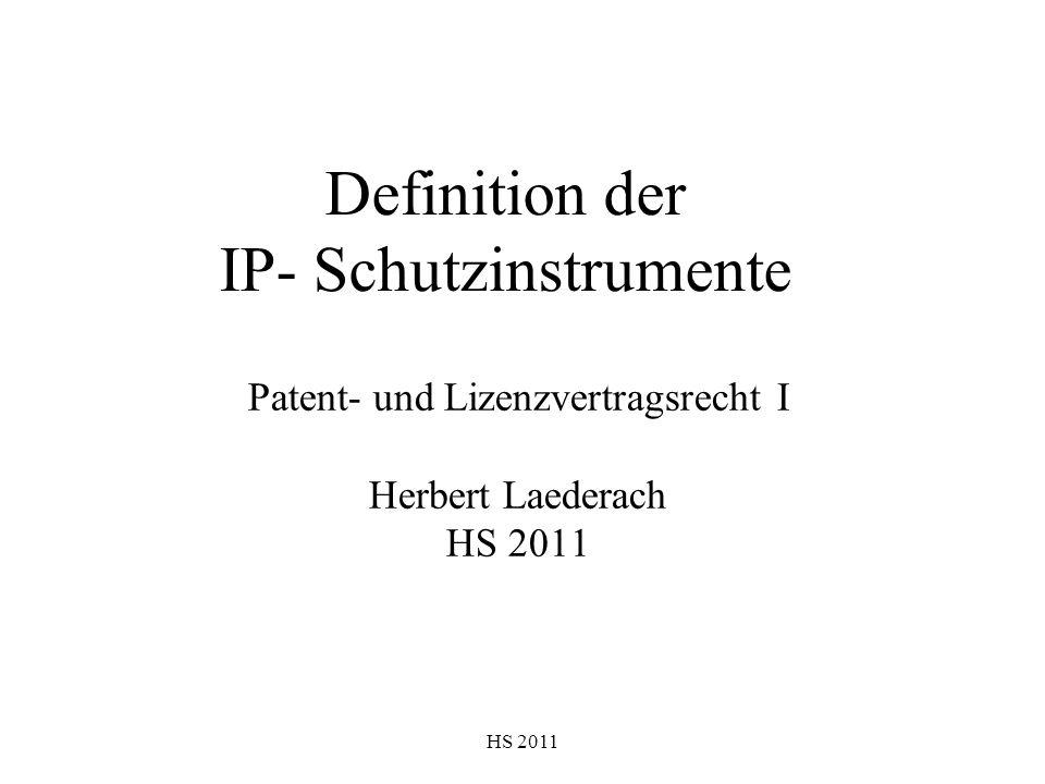 Definition der IP- Schutzinstrumente