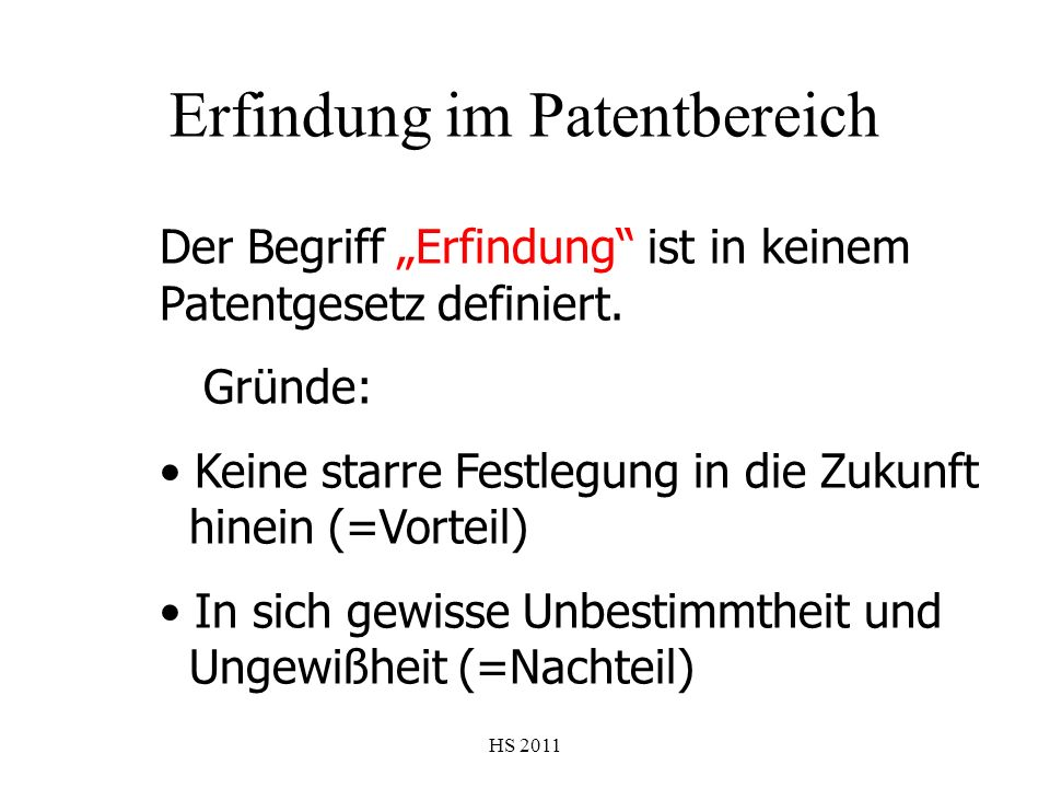 Erfindung im Patentbereich