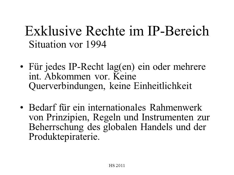 Exklusive Rechte im IP-Bereich