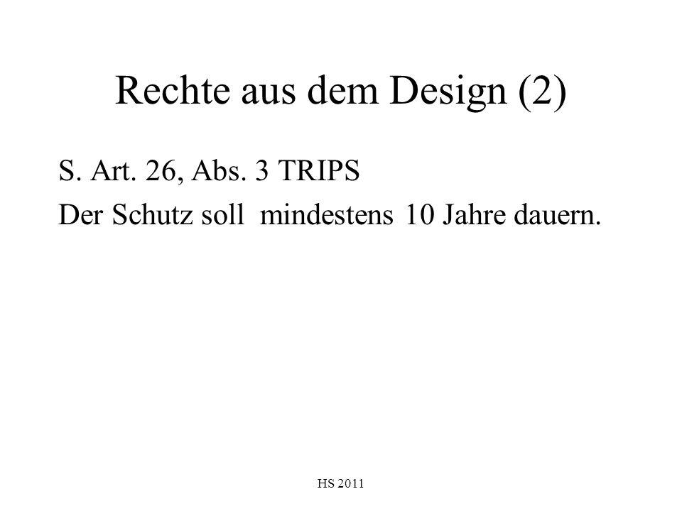 Rechte aus dem Design (2)