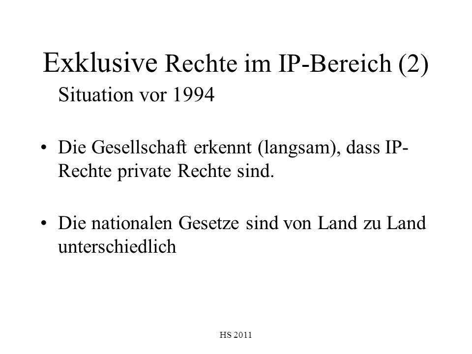 Exklusive Rechte im IP-Bereich (2)