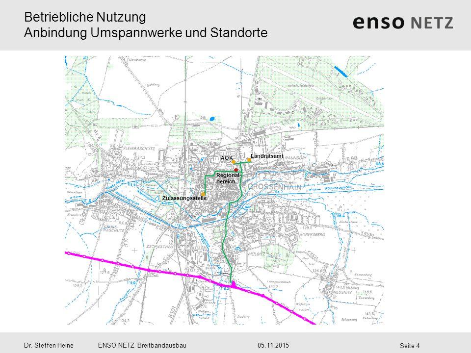 Betriebliche Nutzung Anbindung Umspannwerke und Standorte