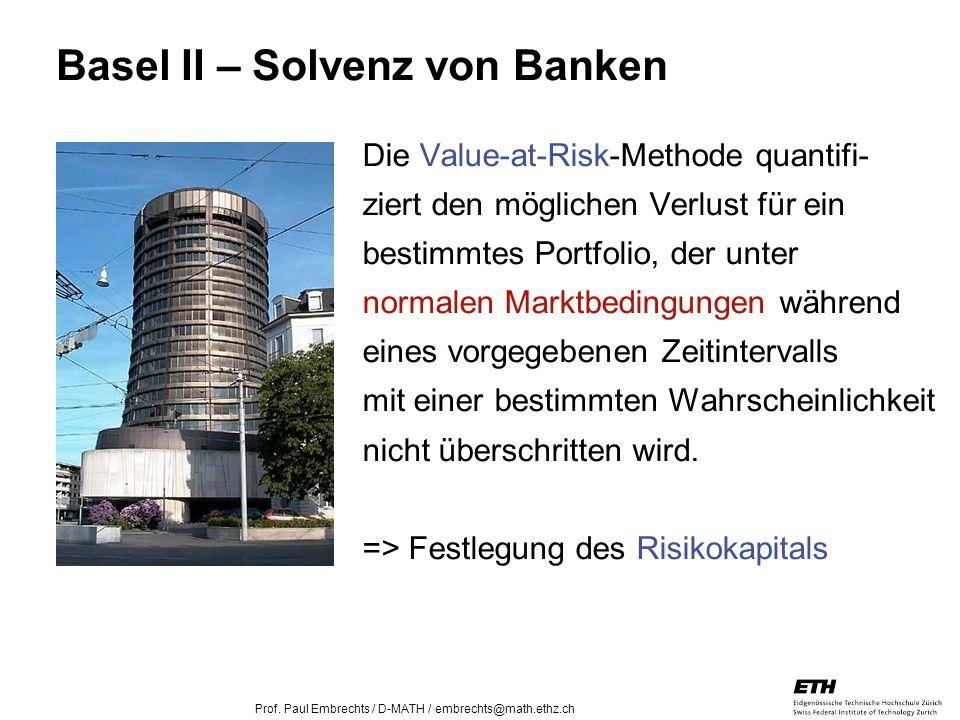 Basel II – Solvenz von Banken