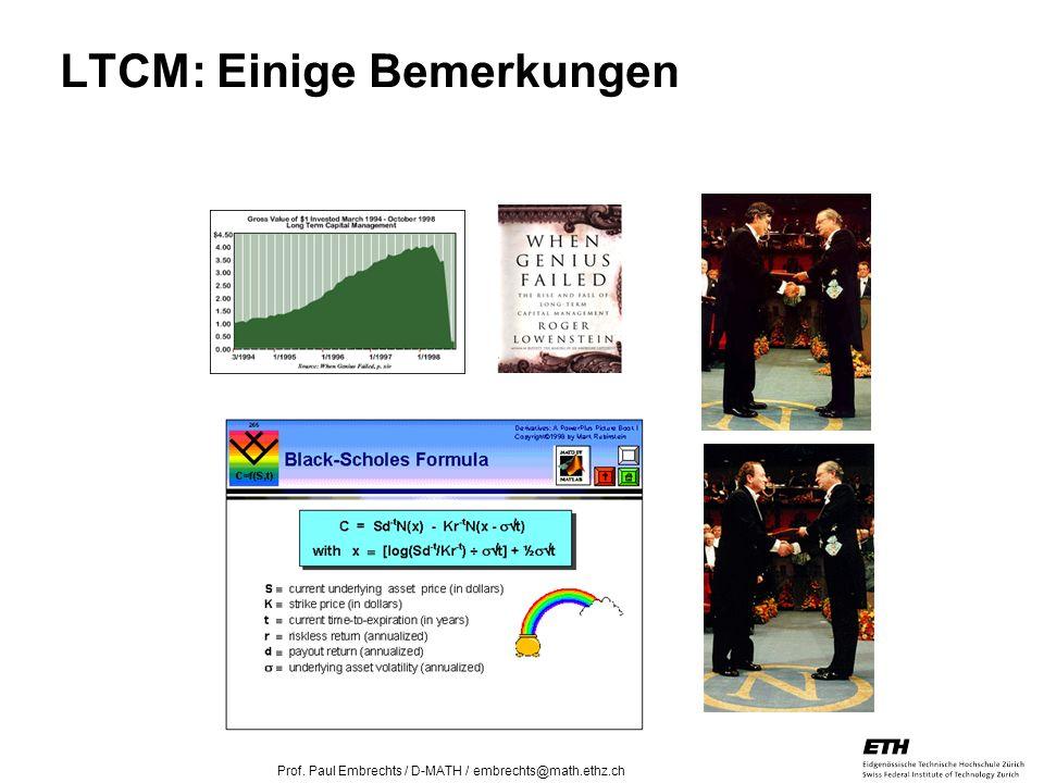 LTCM: Einige Bemerkungen