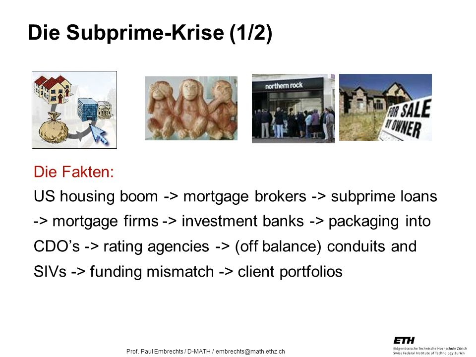 Die Subprime-Krise (1/2)