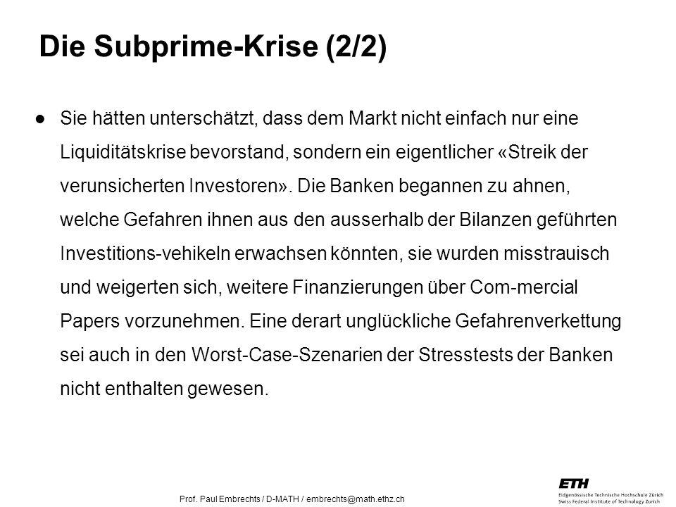 Die Subprime-Krise (2/2)