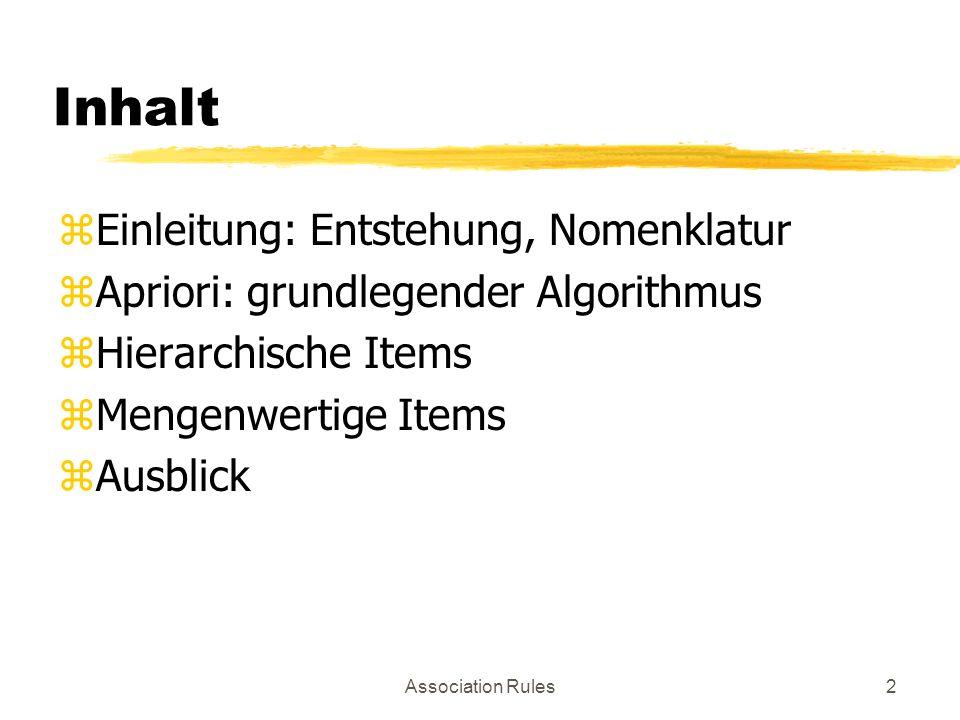 Inhalt Einleitung: Entstehung, Nomenklatur