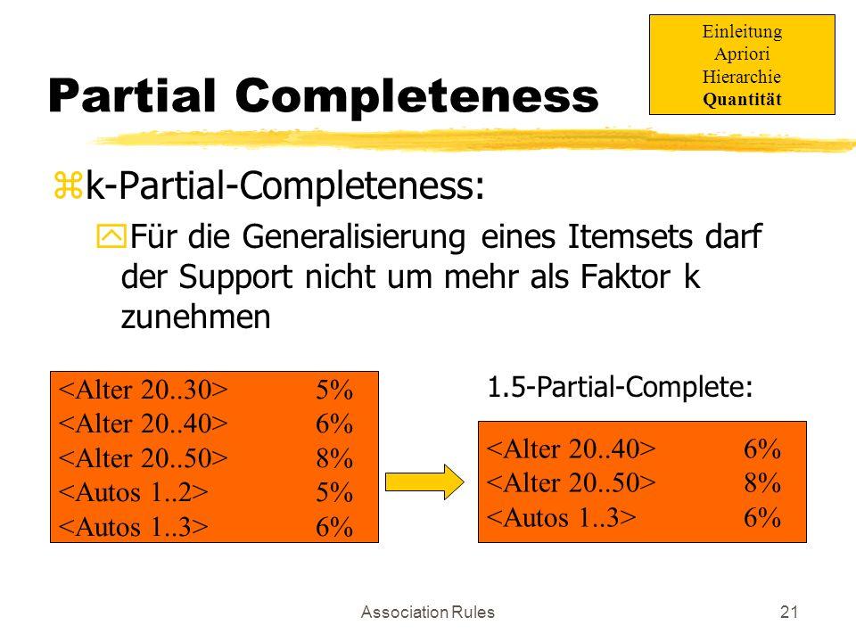 Partial Completeness k-Partial-Completeness: