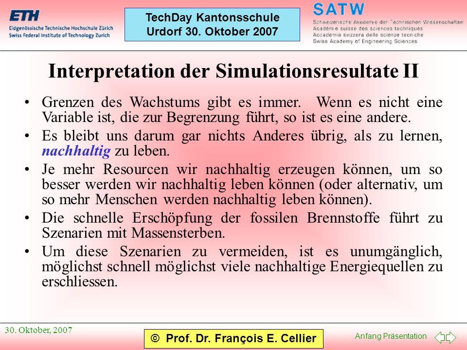 Interpretation der Simulationsresultate II