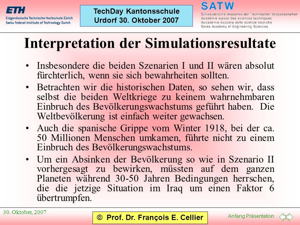Interpretation der Simulationsresultate