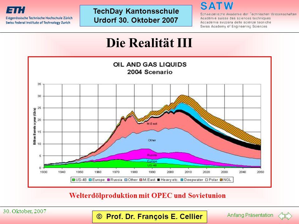 Die Realität III Welterdölproduktion mit OPEC und Sovietunion