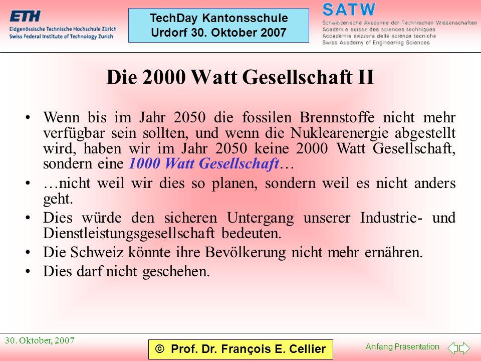 Die 2000 Watt Gesellschaft II