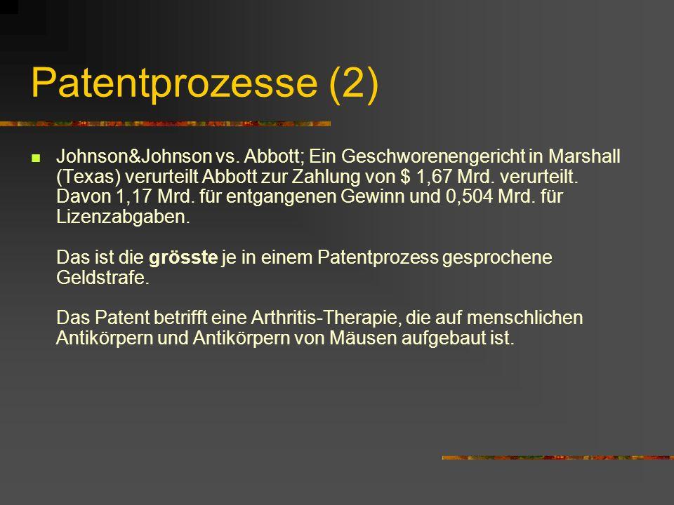 Patentprozesse (2)