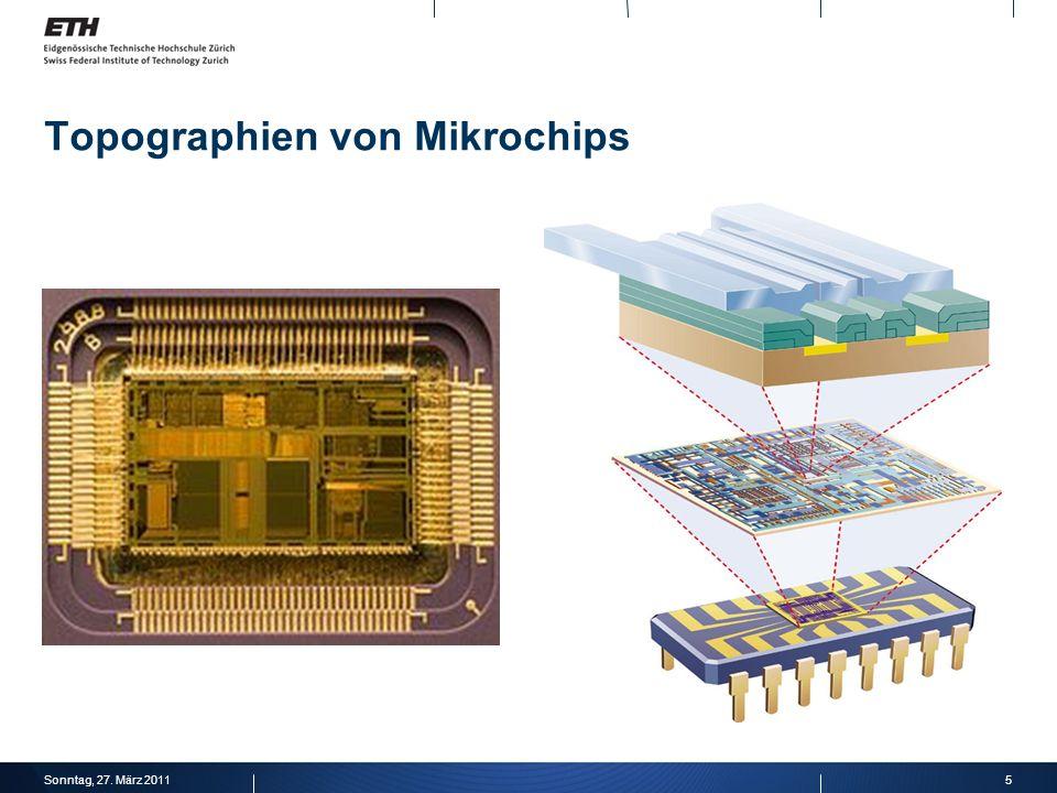 Topographien von Mikrochips